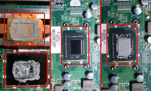 HP laptop thermal paste application steps