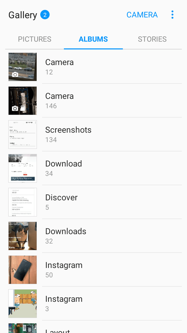 organizing gallery to free up space on Android phone